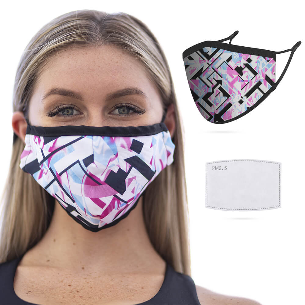 GloFX Cloth Face Mask Ice Prism